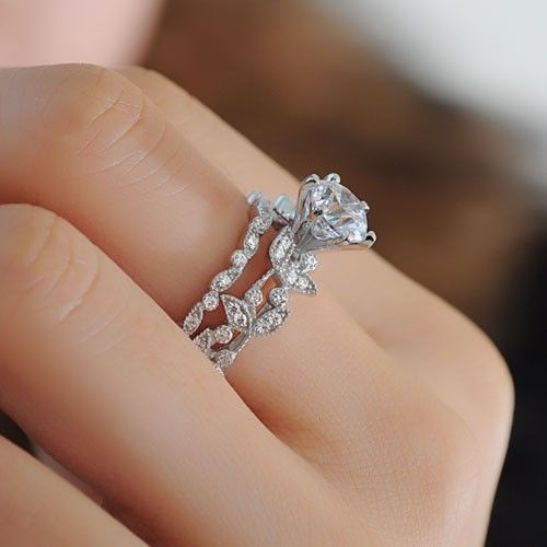 u e jewellery ring engagement p shaped diamond women scarf side stone for rings c